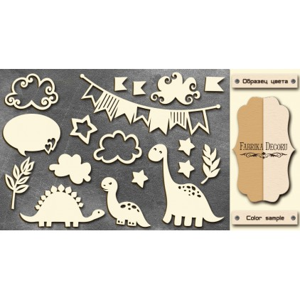 Set of cardboard - Chipboard - Fabrika Decoru -Dino & co. FDCH 09