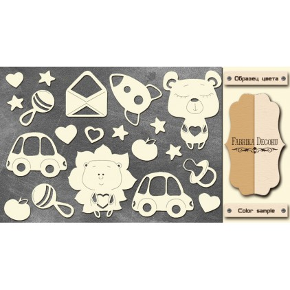 Set of cardboard - Chipboard - Fabrika Decoru -Sweet baby boy - 1- FDCH 111