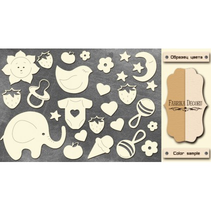 Set of cardboard - Chipboard - Fabrika Decoru -FDCH 113