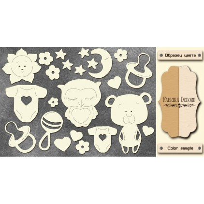Set of cardboard - Chipboard - Fabrika Decoru -FDCH 114