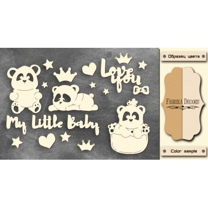 Set of cardboard - Chipboard - Fabrika Decoru -My little baby girl-1-FDCH 107