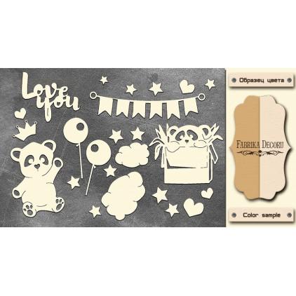 Set of cardboard - Chipboard - Fabrika Decoru -My little baby girl-2 - FDCH 110