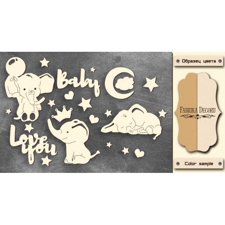 Set of cardboard - Chipboard - Fabrika Decoru-My little baby boy-1- FDCH 108