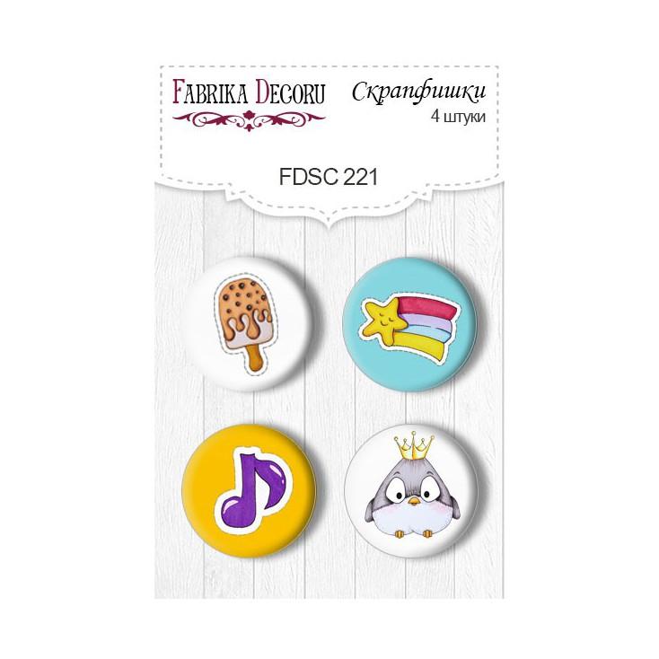 Selfadhesive buttons/badge - Fabrika Decoru - 221