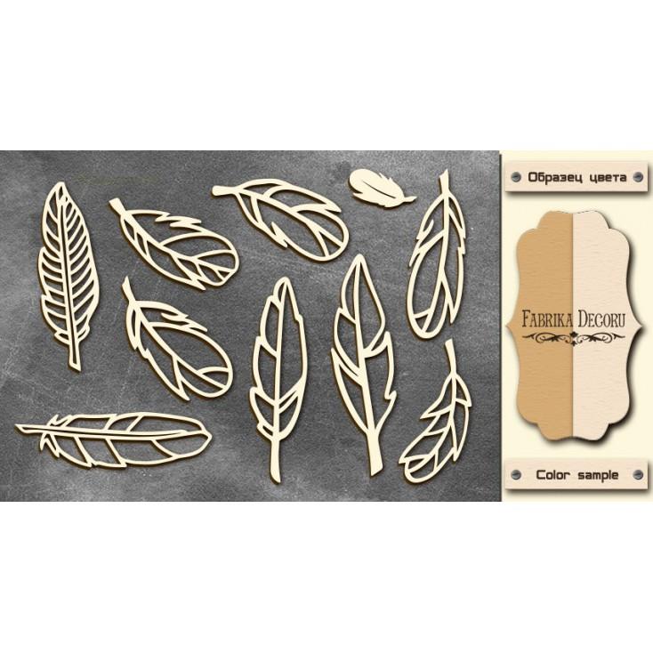 Set of cardboard - Chipboard - Fabrika Decoru- Feathers 2-FDCH 48