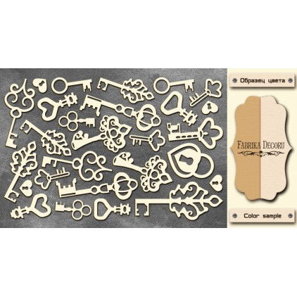 Set of cardboard - Chipboard - Fabrika Decoru- KEYS- FDCH 14