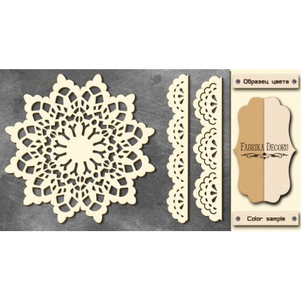Set of cardboard - Chipboard - Fabrika Decoru- Winter napkin - FDCH 76