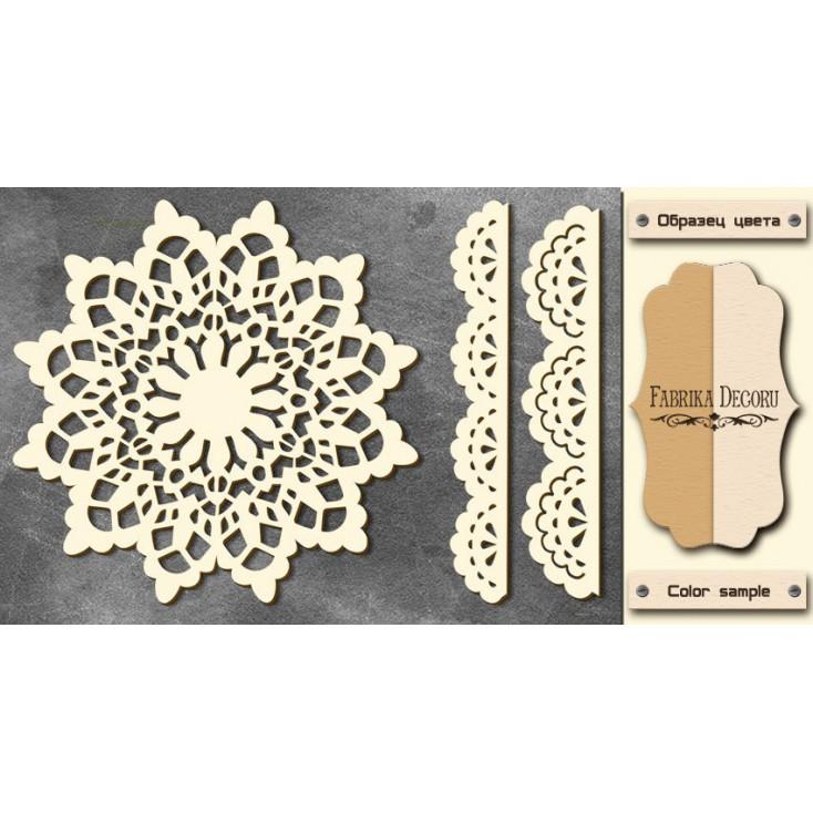 Set of cardboard - Chipboard - Fabrika Decoru- Winter napkin - FDCH 76
