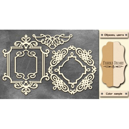 Set of cardboard - Chipboard - Fabrika Decoru- Frames 2 - FDCH 26