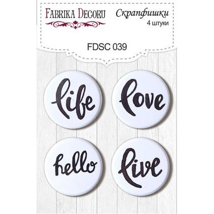 Selfadhesive buttons/badge - Fabrika Decoru - 039