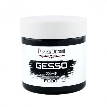 Black acrylic paste - Fabrika Decoru - Gesso black 150ml
