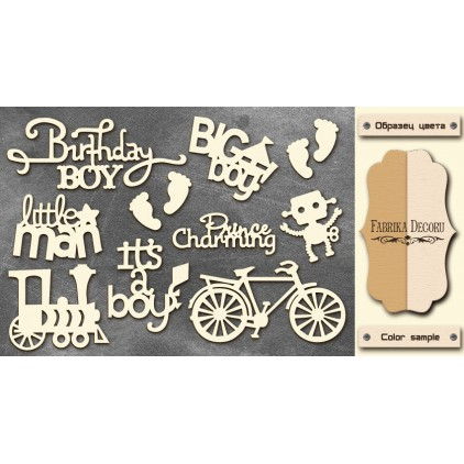Set of cardboard - Chipboard - Fabrika Decoru-For Boy -FDCH 16