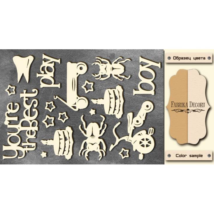 Set of cardboard - Chipboard - Fabrika Decoru- This is a boy - FDCH 78