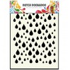 Mask, stencil, template - Rain drops - Dutch Doobadoo