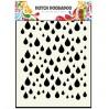 Maska, szablon - Rain drops - Dutch Doobadoo