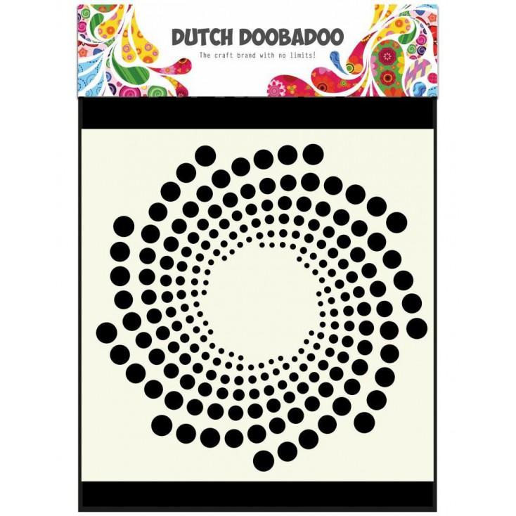 Mask, stencil, template 15 x 15 cm - Sun - Dutch Doobadoo
