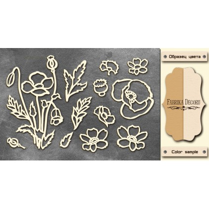 Set of cardboard - Chipboard - Fabrika Decoru--Wildflowers - FDCH 024