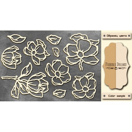 Set of cardboard - Chipboard - Fabrika Decoru- Magnolia sky 01-FDCH 06