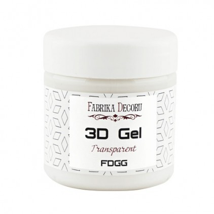 3-D texture gel - Fabrika Decoru - transparent - 150ml