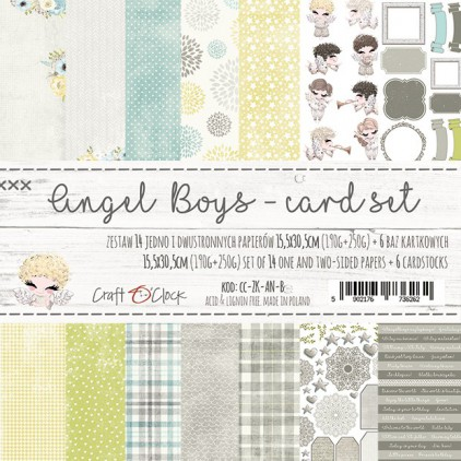 Zestaw papierów do tworzenia kartek- Craft O Clock - Angel Boys