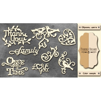 Set of cardboard - Chipboard - Fabrika Decoru- Romnatica 2 -FDCH 029