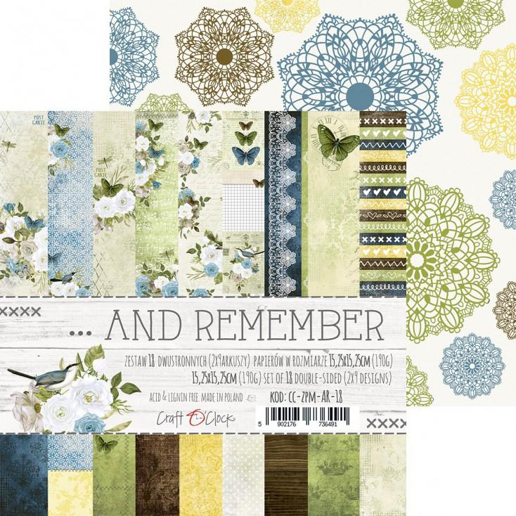 Mały bloczek papierów do tworzenia kartek i scrapbookingu - Craft O Clock - ...And Remember