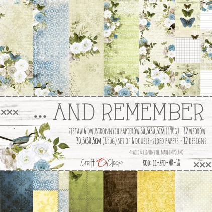 Set of scrapbooking papers - Craft O Clock - ...And Remember