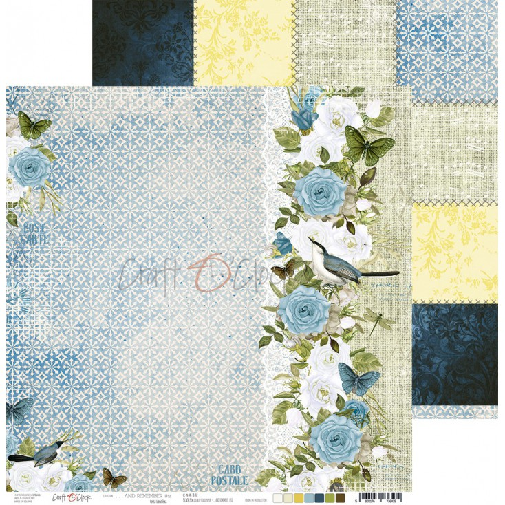 Scrapbooking paper - Craft O Clock - ...And Remember - 02