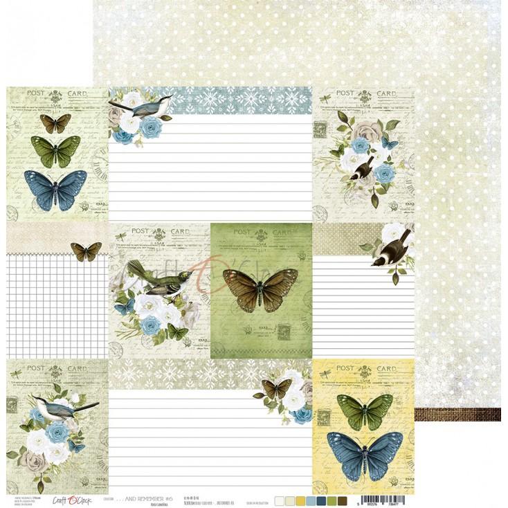 Papier do tworzenia kartek i scrapbookingu - Craft O Clock - ...And Remember - 06