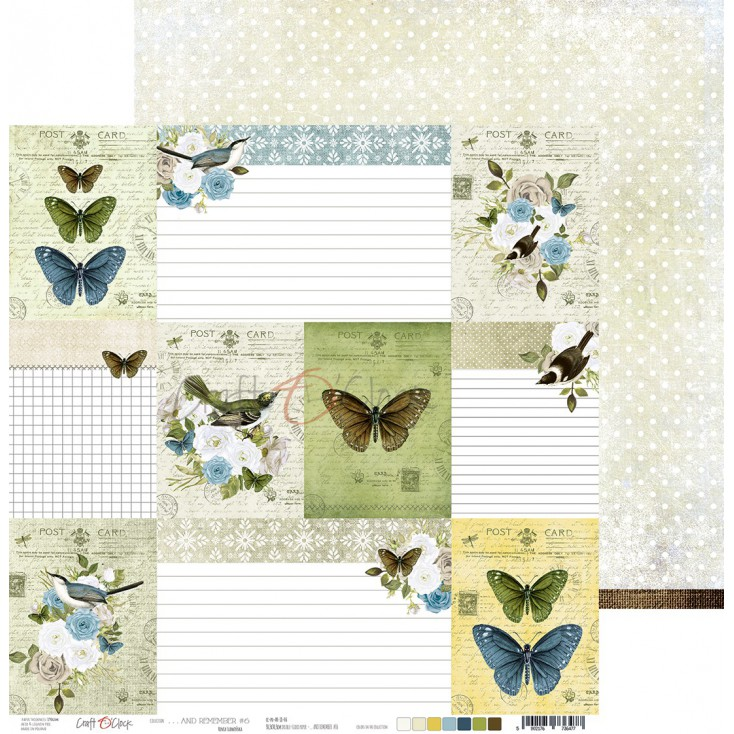 Scrapbooking paper - Craft O Clock - ...And Remember - 06