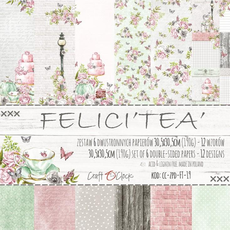 Set of scrapbooking papers - Craft O Clock - Felici'Tea'