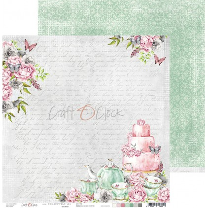 Scrapbooking paper - Craft O Clock - Felici'Tea' - 01