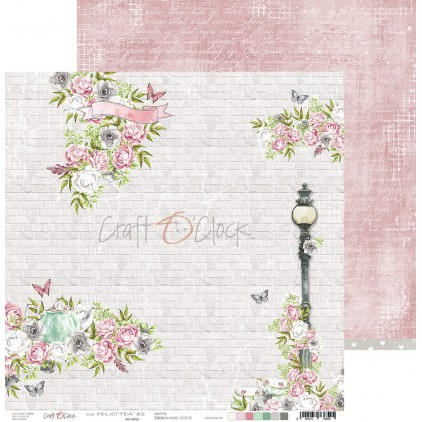 Papier do tworzenia kartek i scrapbookingu - Craft O Clock - Felici'Tea' - 02