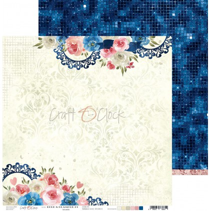 Scrapbooking paper - Craft O Clock - Bold&Glamour - 01