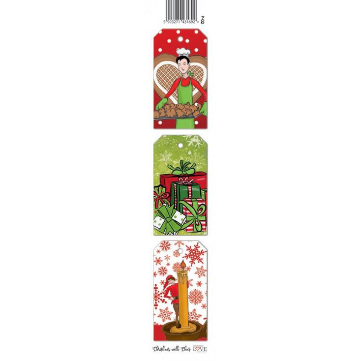 Pasek papieru - Christmas with elves - 02 - Laserowe LOVE