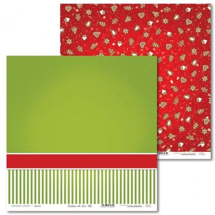 Scrapbooking paper - Christmas with elves - 05 - Laserowe LOVE