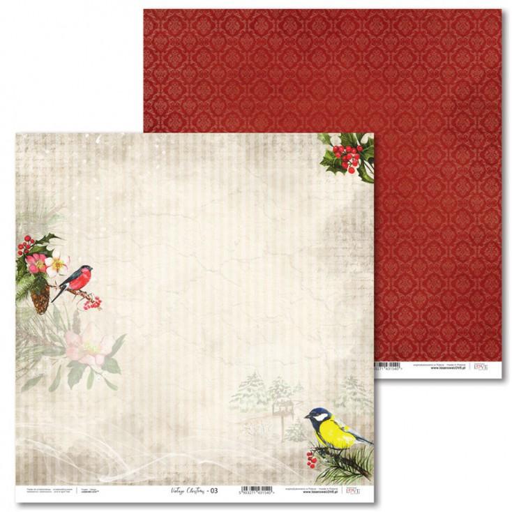Scrapbooking paper - Vintage Christmas - 03 - Laserowe LOVE