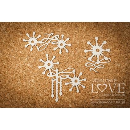 Tekturka -Ornamenty z gwiazdkami- Vintage Christmas - LA187210- Laserowe LOVE