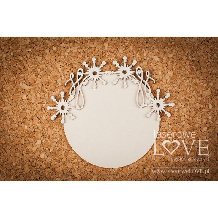Cardboard -A round frame among stars Vintage Christmas - LA18724- Laserowe LOVE