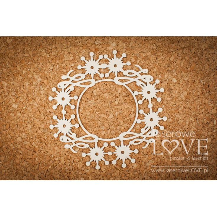 Cardboard -A large frame among the stars- Vintage Christmas - LA18726- Laserowe LOVE