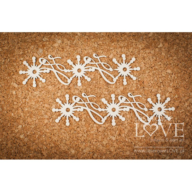 Cardboard - Two ornaments - Vintage Christmas - LA18730- Laserowe LOVE