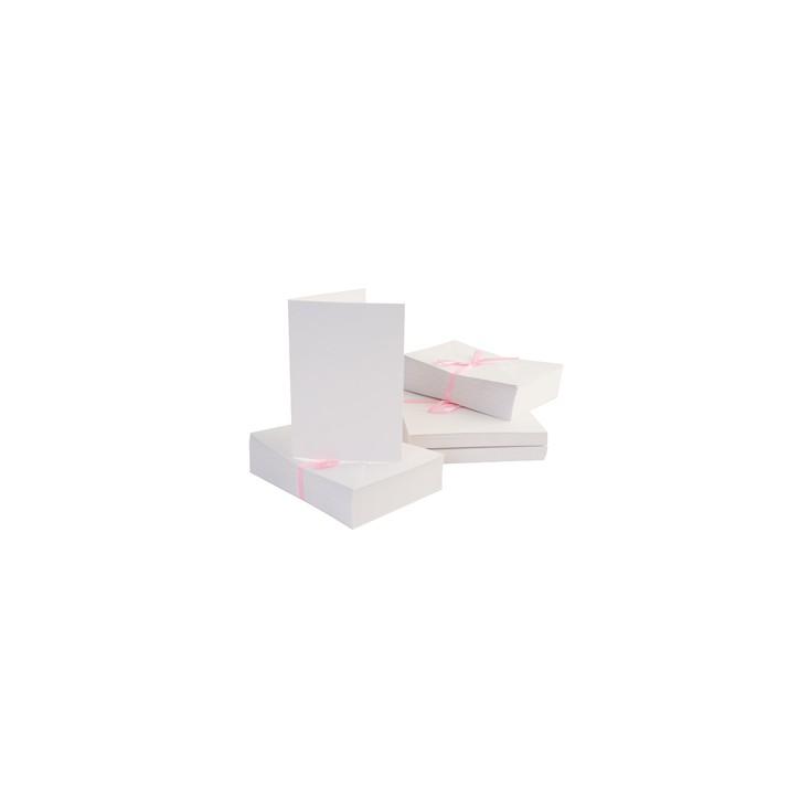 Bazy kartkowe plus koperty A6 - zestaw 50 sztuk - białe