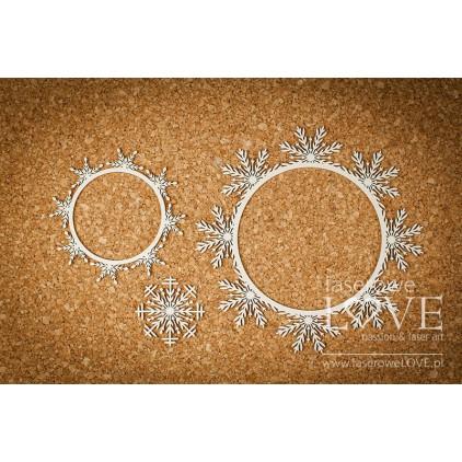 Cardboard -Set of frames - Shabby Winter - LA18667- Laserowe LOVE