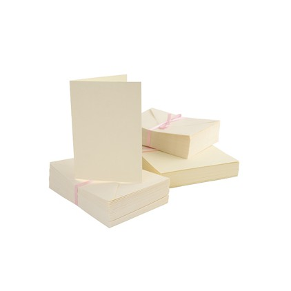 Anita's blank card and envelope - C6 - cream