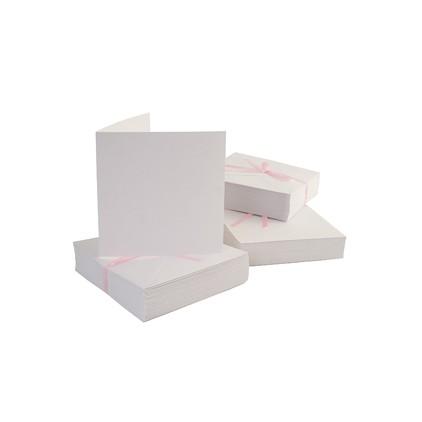Bazy kartkowe plus koperty kwadratowe - zestaw 50 sztuk - białe