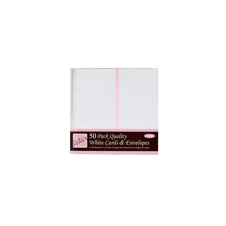 Anita's blank card and envelope - DL - white