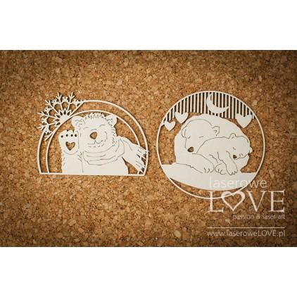 Tekturka -Misie w ramkach - Arctic Sweeties - LA18604- Laserowe LOVE