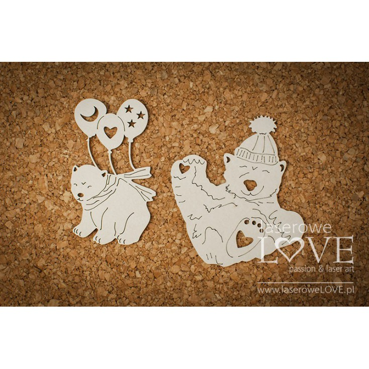Tekturka -Niedźwiadki - Arctic Sweeties - LA18608- Laserowe LOVE