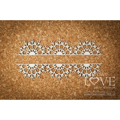 Cardboard -Border with snowflakes - Arctic Sweeties - LA18609- Laserowe LOVE