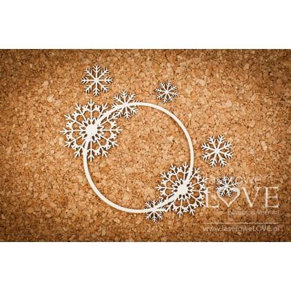 Cardboard -Delicate frame with snowflakes - Arctic Sweeties - LA18619- Laserowe LOVE